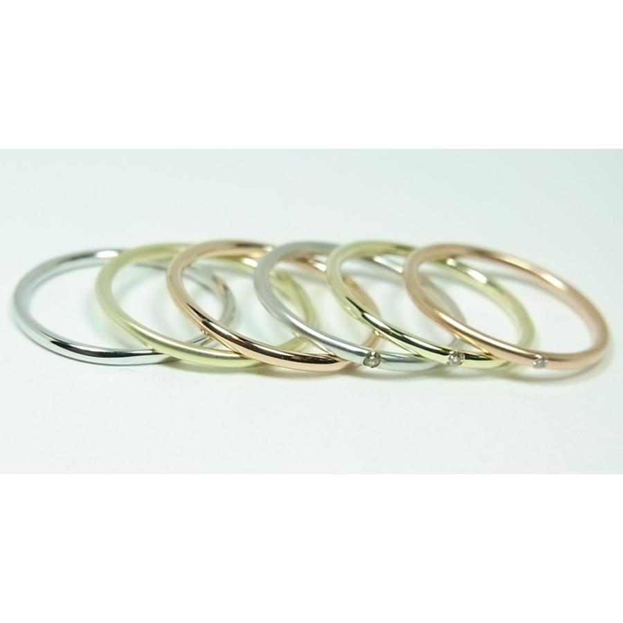 K10ホワイトゴールド シンプルペアリング alljewelry 04