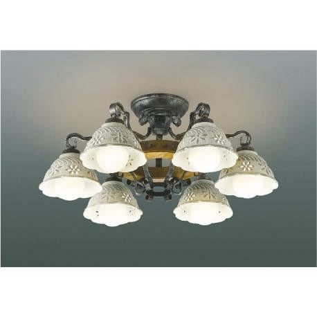 ☆KOIZUMI LEDイルムシャンデリア 簡易取付式 LED42.0W (ランプ付) 電球色 2700K AA42871L