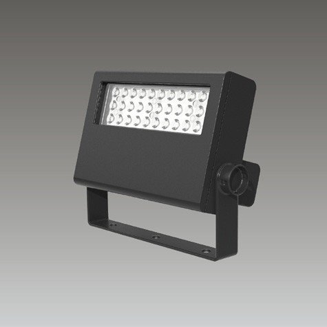 ☆東芝 屋外用LED小形角形投光器 電球色 前方形 35Wコンパクトメタルハライド器具相当 グレーイッシュブラック LEDS-02907LF-LS9 ※受注生産品