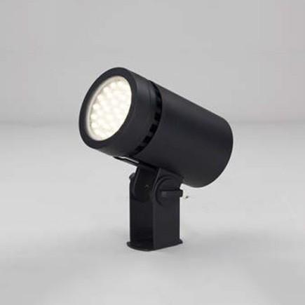 ☆東芝 屋外用LED小形丸形投光器 電球色 広角形 70Wコンパクトメタルハライド器具相当 グレーイッシュブラック LEDS-04801LW-LS9