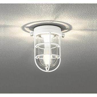 ☆ODELIC LED照明 門柱灯 白熱灯40W相当 LEDクリアミニクリプトン形 電球色 (ランプ付き) 防雨・防湿型 壁面・天井面・門柱取付兼用 OG254607LD