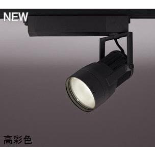 ☆ODELIC LEDスポットライト 高彩色タイプ 配線ダクトレール用 CDM-T70W相当 ブラック スプレッド 29VA 電球色 3000K 調光非対応 XS411190H