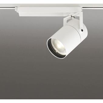 ☆ODELIC LEDスポットライト 高効率タイプ 配線ダクトレール用 CDM-T150W相当 オフホワイト 18° 45VA 電球色 電球色 電球色 3000K (専用調光リモコン別売) XS511135BC 417