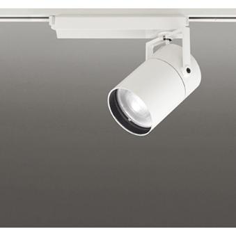 ☆ODELIC LEDスポットライト 高彩色タイプ 配線ダクトレール用 CDM-T150W相当 オフホワイト スプレッド 45VA 温白色 温白色 3500K 調光非対応 XS511157H
