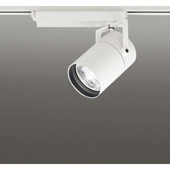 ☆ODELIC LEDスポットライト LEDスポットライト 高効率タイプ 配線ダクトレール用 CDM-T70W相当 オフホワイト 8° 32VA 温白色 3500K (専用調光リモコン別売) XS513183BC
