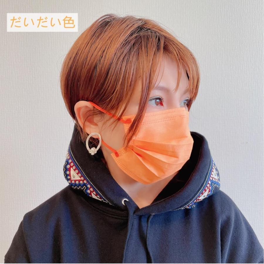 【1枚15円】不織布カラーマスク 1枚ずつ個別包装 カラーが選べる ふつうサイズ 使い捨て 平ゴム 3層不織布 花粉 風邪 PM2.5 ウイルス飛沫対策|allone-shop|03