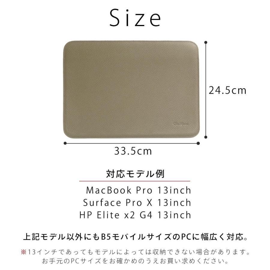 牛革 macbook pro 13 ケース ノートパソコン ケース 13.3 inch インナー ケース レザー カバー マウスパッド 送料無料|allrightleather|12