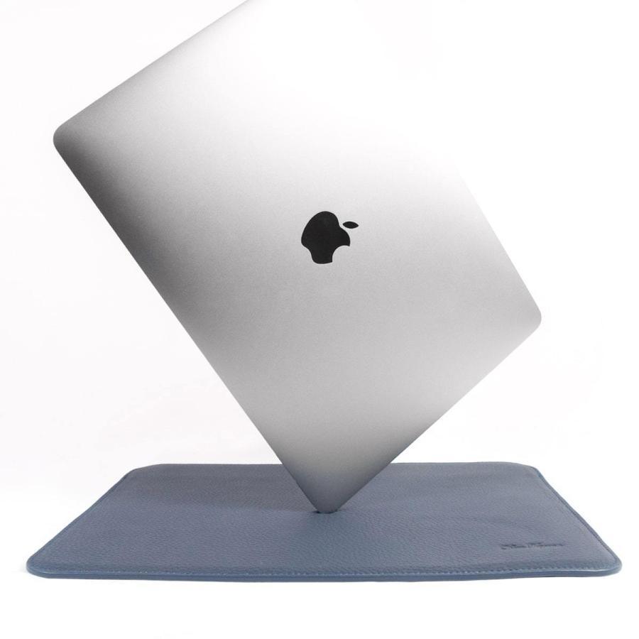 牛革 macbook pro 13 ケース ノートパソコン ケース 13.3 inch インナー ケース レザー カバー マウスパッド 送料無料|allrightleather|05