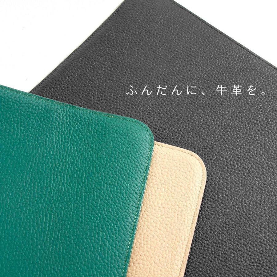牛革 macbook pro 13 ケース ノートパソコン ケース 13.3 inch インナー ケース レザー カバー マウスパッド 送料無料|allrightleather|06