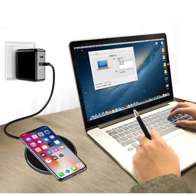 ワイヤレス充電器充電器急速充電器ワイヤレス充電器ケーブル付きiPhoneGalaxyHuaWeiSAMSUNGおくだけ充電薄型Qi認証スマートフォン allurewebshop 13