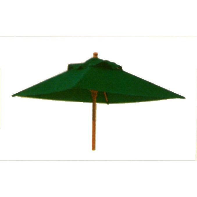 ウッディ パラソル 角型20 グリーン 日除け サンシェード 傘 日傘 屋外家具 ガーデンファニチャー アウトドアに