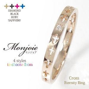 【激安セール】 リング ピンキーリング ダイヤモンド・ブラック・ルビー・サファイア クロスエタニティーリング 18金 指輪 レディース, アジアの布雑貨 ウィージャ 4970ac45
