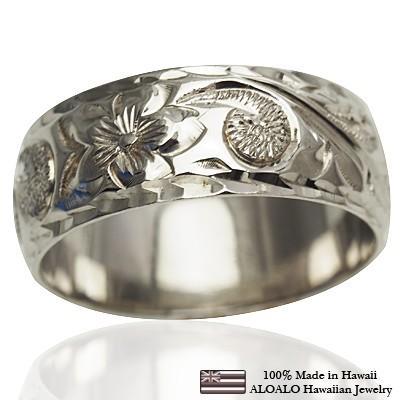大特価!! ハワイアンジュエリー リング リング 指輪 結婚指輪 オーダーメイド お手軽な1.25mm厚 幅6mm 14k 14k ホワイトゴールド 幅6mm ハートインイニシャル バレルリング, セレクトショップ NUMBER11:cefb3bf5 --- airmodconsu.dominiotemporario.com