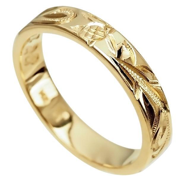 【ラッピング無料】 ハワイアンジュエリー 14k リング 指輪 リング 結婚指輪 オーダーメイド しっかりした1.5mm厚 幅4mm 14k 幅4mm イエローゴールド フラットリング, シューズボックス:542f4f82 --- odvoz-vyklizeni.cz