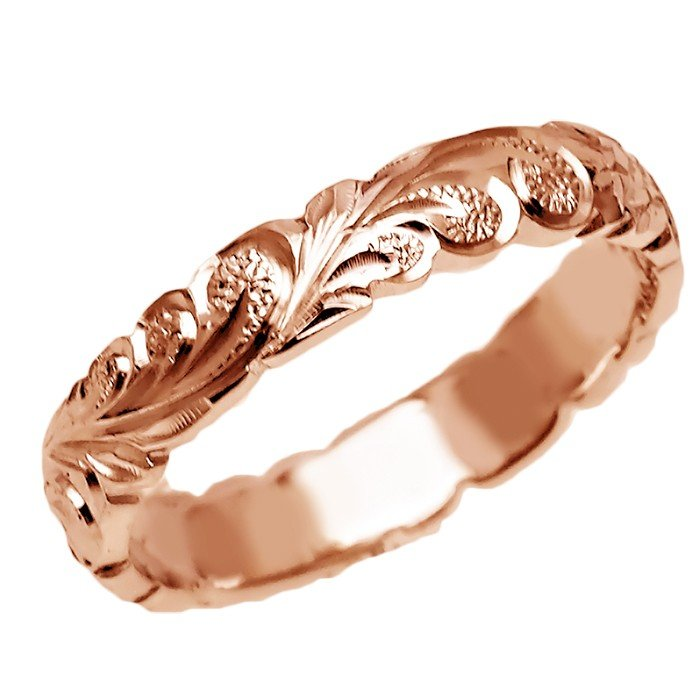 有名な高級ブランド ハワイアンジュエリー リング 結婚指輪 指輪 結婚指輪 オーダーメイド お手軽な1.25mm厚 幅4mm 幅4mm 14k ピンクゴールド 14k ダイヤモンドバレルリング, Alpen@アルペン:e9deee6c --- airmodconsu.dominiotemporario.com