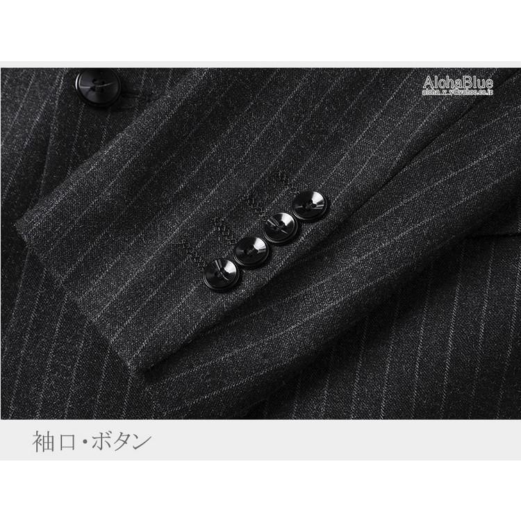 ダブルスーツ メンズ セットアップ 2ピーススーツ 6つボタン ビジネススーツ ストライプ柄 スーツ 秋夏 結婚式 礼服 紳士 aloha0118 11