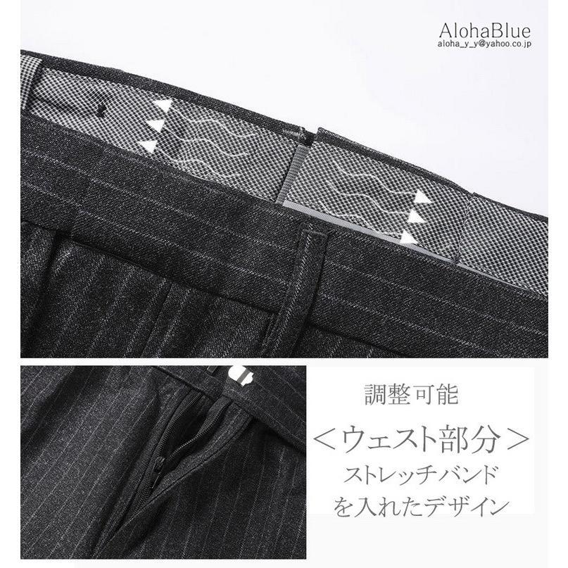 ダブルスーツ メンズ セットアップ 2ピーススーツ 6つボタン ビジネススーツ ストライプ柄 スーツ 秋夏 結婚式 礼服 紳士 aloha0118 06