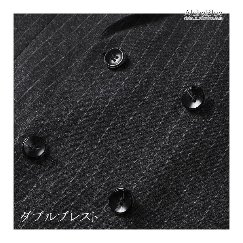 ダブルスーツ メンズ セットアップ 2ピーススーツ 6つボタン ビジネススーツ ストライプ柄 スーツ 秋夏 結婚式 礼服 紳士 aloha0118 09