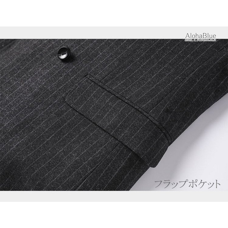 ダブルスーツ メンズ セットアップ 2ピーススーツ 6つボタン ビジネススーツ ストライプ柄 スーツ 秋夏 結婚式 礼服 紳士 aloha0118 10