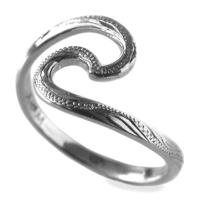 卸売 ハワイアンジュエリー リング 指輪 シルバーリング シルバー 925 Nalu ウェーブ 波 リング レディース 女性 ari1369/新作, ヒノシ 049795c7