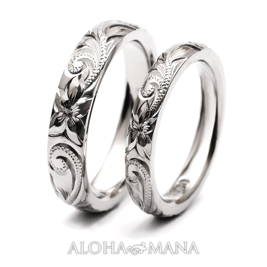 ハワイアンジュエリーペア結婚指輪マリッジリングペアk14k18プラチナゴールドバレルゴールドリングONLYONE|alohamana|04