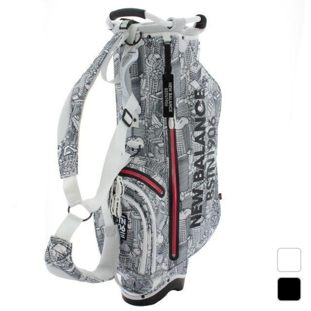 ニューバランス ボストンシティプリントスタンドキャディバッグ (8280004) メンズ ゴルフ キャディバッグ New Balance キャディーバッグ