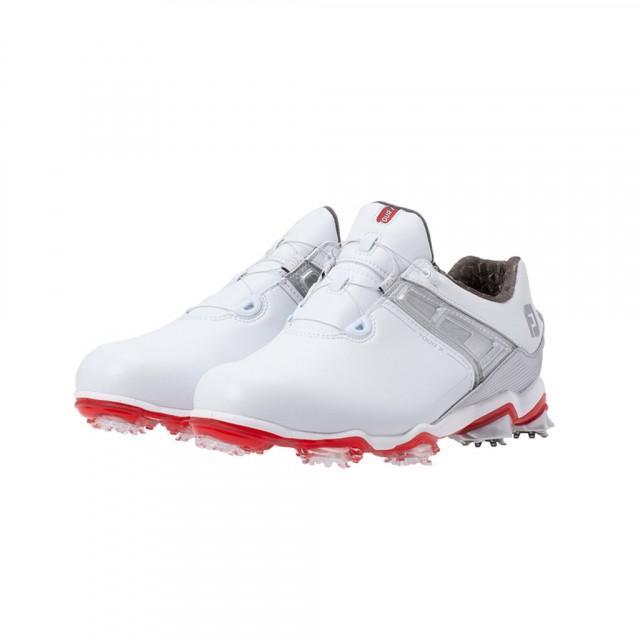 フットジョイ ゴルフシューズ ツアーX ボア 20 送料込 低価格化 55411 最高峰パフォーマンスツアーモデル ホワイト×レッド メンズ ダイヤル式スパイク 3E JOY ゴルフ FOOT