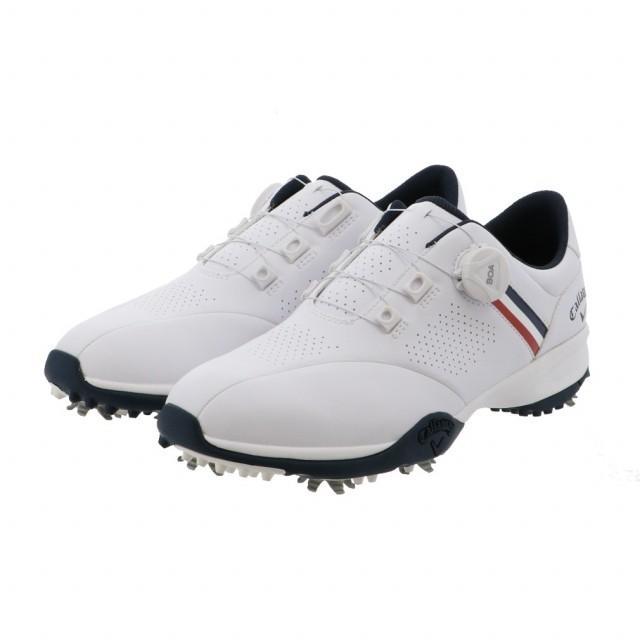 キャロウェイ ゴルフシューズ エアロスポーツ AEROSPORT 20 2470996501 送料0円 メンズ ダイヤル式スパイク Callaway 3E 限定タイムセール ゴルフ : ホワイト×ネイビー