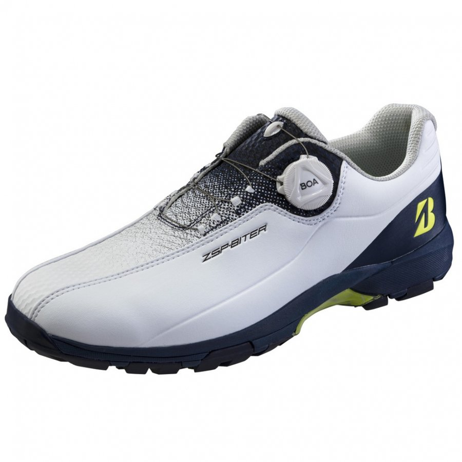 ブリヂストン ゴルフシューズ ゼロスパイクバイターライト2 SHG150 メンズ ゴルフ ホワイト×ネイビー BRIDGESTONE ダイヤル式スパイクレスシューズ 3E : 期間限定お試し価格 格安SALEスタート