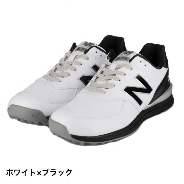 ニューバランス ゴルフシューズ MGS574D (MGS574D) メンズ ゴルフ シューレース式スパイクレスシューズ D : ホワイト×ブラック New Balance