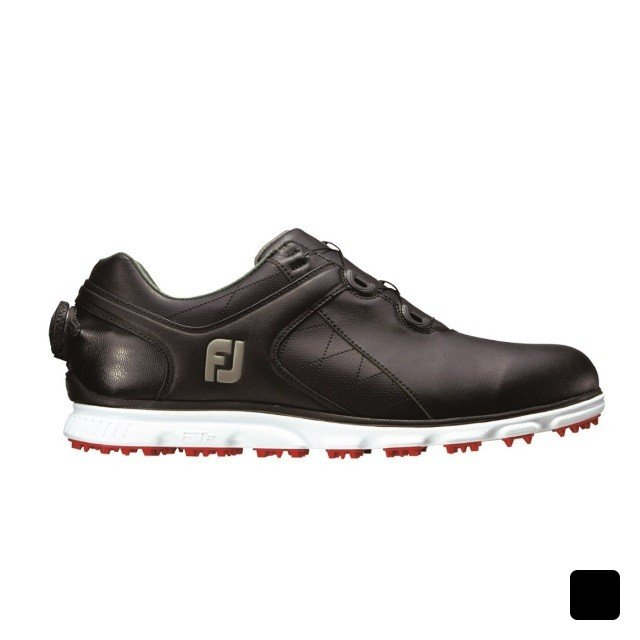 フットジョイ 2017年モデル プロSL ボア (56847) ゴルフ ダイヤル式スパイクレスシューズ 3E メンズ:ブラック FOOT JOY FJ