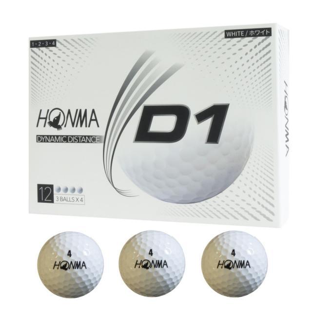 ホンマ ゴルフボール New D1 ホワイト リニューアルモデル BT2001L LOWナンバー ゴルフ 公認球 奉呈 1ダース 品質保証 HONMA 12球入
