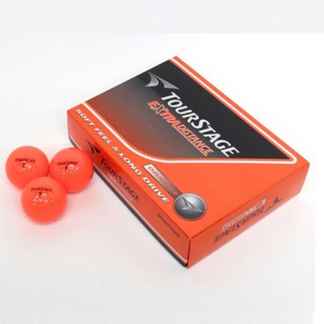 ブリヂストン BRIDGESTONE ゴルフ ボール 卸売り 春の新作続々 ツアーステージ エクストラ :オレンジ ディスタンス TEOX 12個入 1ダース