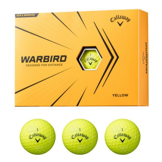 キャロウェイ 毎週更新 即出荷 WARBIRD ウォーバード YELLOW イエロー 4518300131 12球入 2021年モデル Callaway 1ダース 公認球 ゴルフ