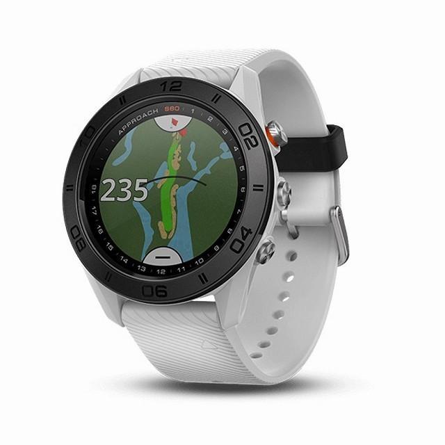 ガーミン アプローチ S60 GPS 時計 (010-01702-24) ホワイト (腕時計型)(ゴルフナビ GPSナビ ナビ)(距離計測器 距離計測 距離計 距離測定 距離測定器)
