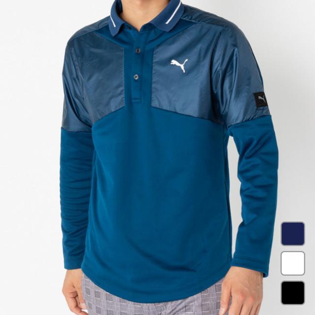 プーマ ゴルフ 長袖シャツ ゴルフ ハイブリッド LS ポロシャツ (923920) メンズ ダークブルー PUMA