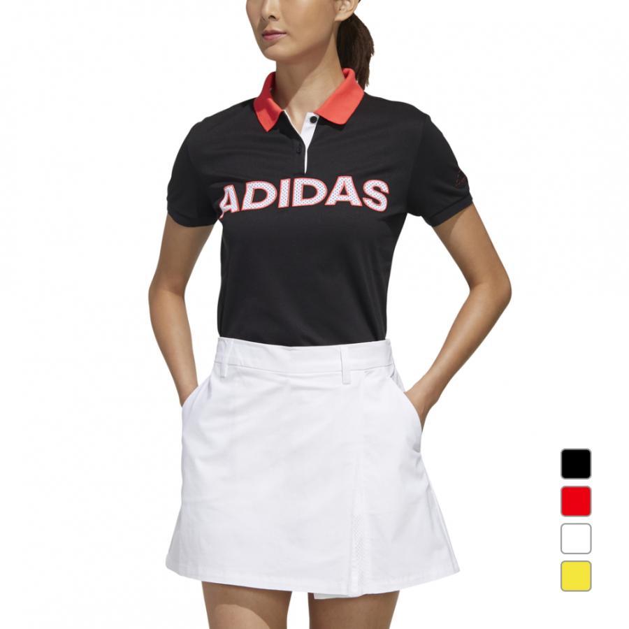 アディダス 期間限定特別価格 新作販売 レディース ゴルフウェア 半袖シャツ ADIDASロゴ ポロ ブラック adidas GLD48 :