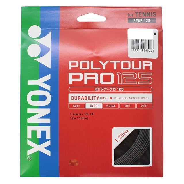ヨネックス ポリツアープロ125 PTGP125 永遠の定番モデル 卓出 278 ストリング 硬式テニス グラファイト YONEX