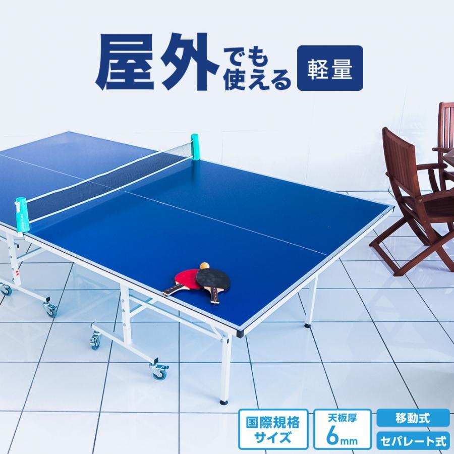 ティゴラ 屋外用 アルミ天板卓球台 国際規格サイズ セパレート式 (TR-2PG3079) 天板6mm 卓球 TIGORA