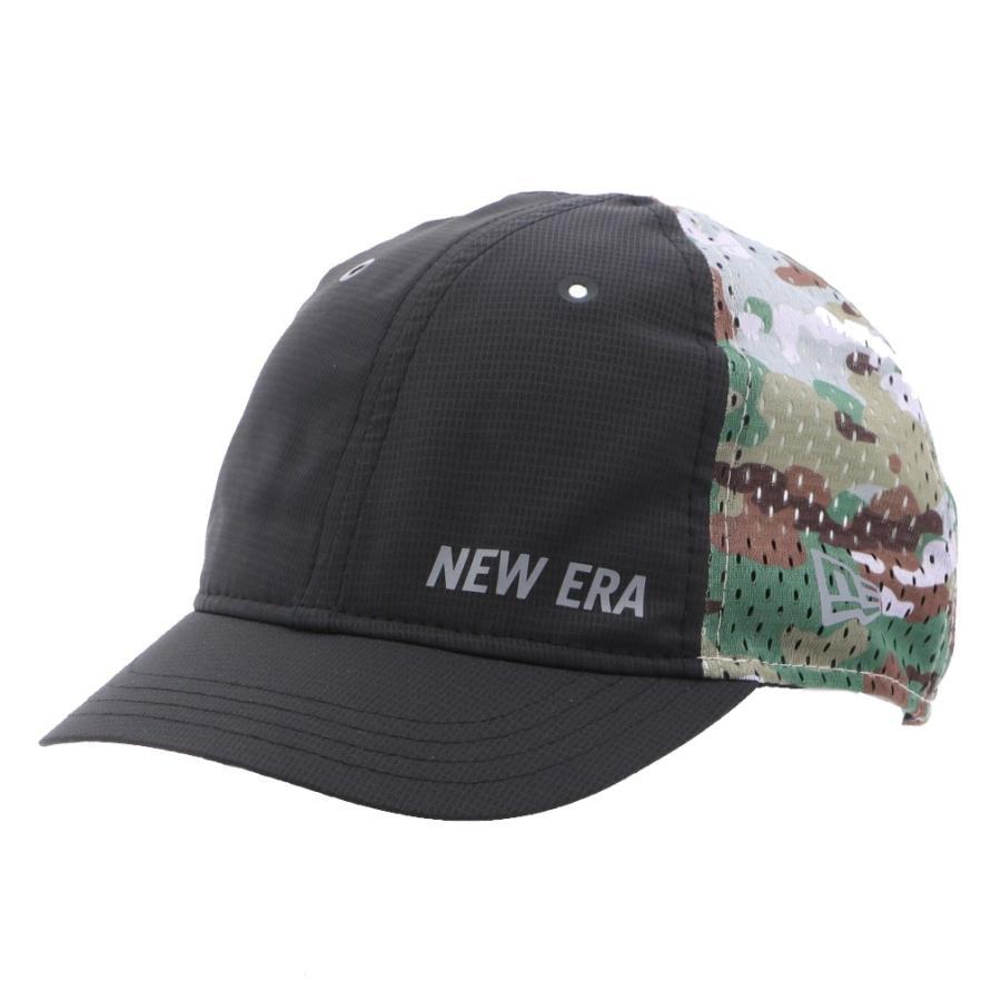 ニューエラ 陸上 選択 ランニング キャップ 9THIRTY ショートバイザー テックドライ 帽子 ブラック×アーミーグリーン NEW ERA 12674437 最安値 :