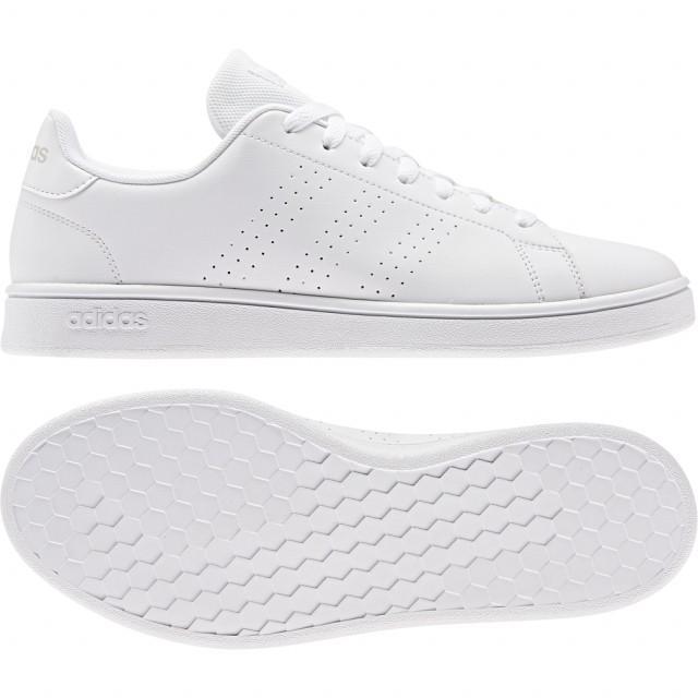 アディダス ADVANCOURT BASE EE7692 メンズ レディース スニーカー:ホワイト 白靴 白スクールシューズ adidas 売買 白スニーカー 通学スニーカー 直営ストア 通学靴