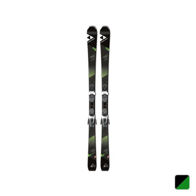 フィッシャー スキー 板 PRO MT FIRE SLR2 (FIS+PRO MT FIRE) ブラック×グリーン ビンディング付