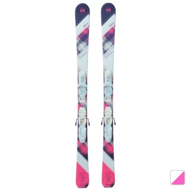 ハート ジュニア スキー 板 INNOCENCE T (HRT+イノセンスT WHPK) ホワイト×ピンク ビンディング付 Hart