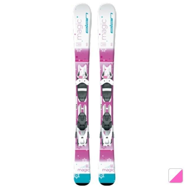 エラン ジュニア スキー 板 LIL MAGIC QUICK SHIFT (ELN+リルマジック QS) ホワイト×ピンク ビンディング付 elan