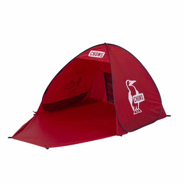 チャムス ポップアップサンシェード2人用 市場 CH62-1631 R001 キャンプ ドームテント : CHUMS Red 新作続