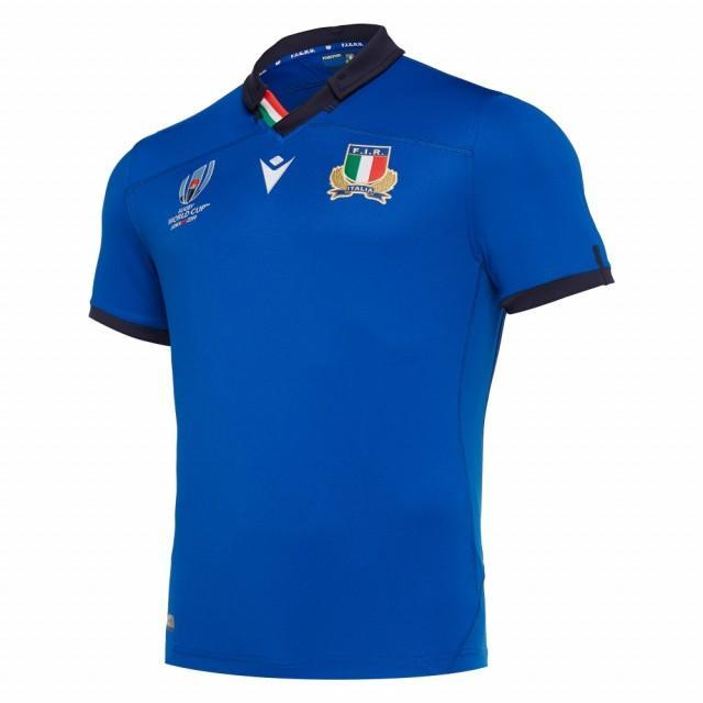 マクロン メンズ ラグビー イタリア代表 19-20 FIR ラグビーワールドカップ2019RWC ホームオーセンティックプロボディジャージー (58017014) macron