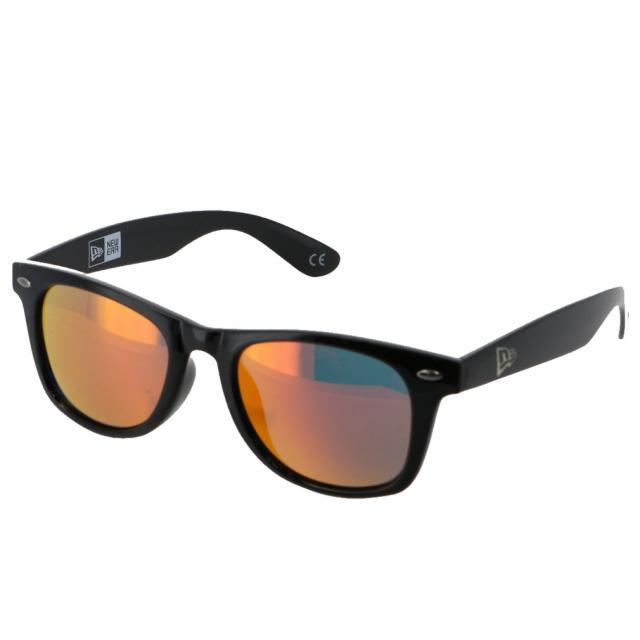 ニューエラ 超特価 2020モデル スクエアレンズ シャイニーブラックフレーム オレンジミラーレンズ 12325623 NEW ERA サングラス