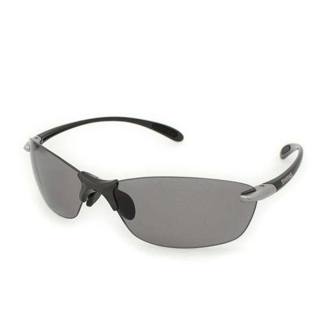 スワンズ エアレス リーフフィット (SALF-0051) サングラス 偏光レンズ Airless Leaffit : ダークガンメタリック×ライトシルバー SWANS UV対策