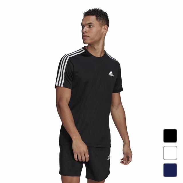 アディダス メンズ 半袖機能Tシャツ MD2M3ストライプスTシャツ 42274 出荷 GM2106 GM2105 0529T GM2156 adidas セール特別価格 スポーツウェア