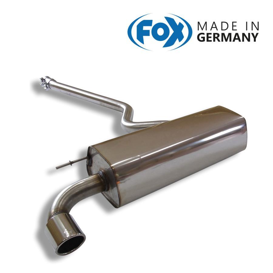 FOX フォックス オールステンレスマフラー(リアマフラー) BMW F20 116i/118i用 90mm 斜め|alpha-online-shop
